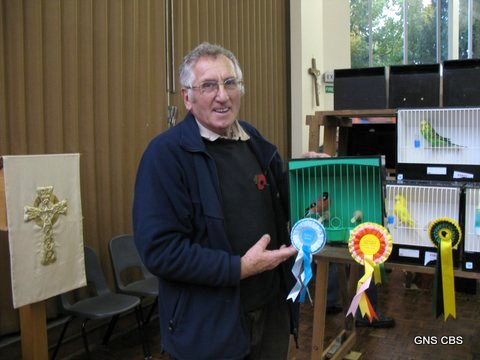 Ken Grigg with his winning bullfinch