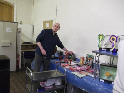 Darren at the tombola
