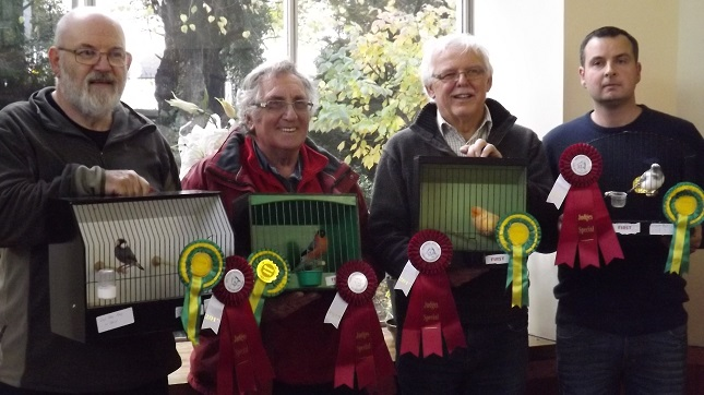 4 winners of the best in section rosettes donated by the