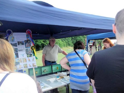 Richard talking to the public at the 2015 Summer fayre