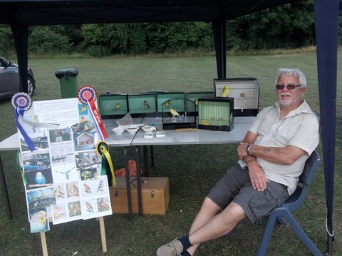 Ron relaxing at the club's Summer fayre stall